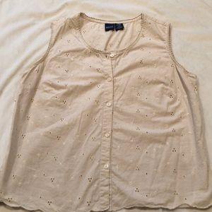 Cream/beige Basic Editions blouse